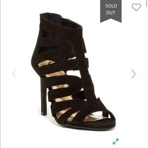 Jessica Simpson Black Suede Caged Heels NWB size 7
